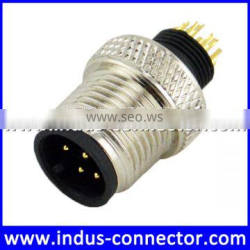 M12 watertight male 8 pins solar molded connector for raycool accessory