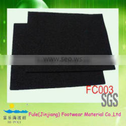 breathable black rubber carpet material
