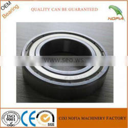 6202/6204/6007Z-2RS rubber coated deep groove ball bearing