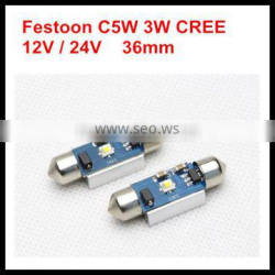 canbus festoon led bulb para autos high power 1W for bmw for audi for mercedes