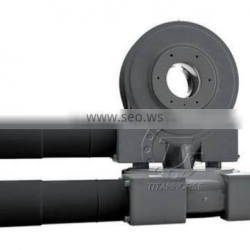 Dual axis worm drive slewing ring