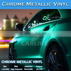 Easy Apply Any Flat Surface 5*65FT Chrome Vinyl Metallic Film Car Wrap