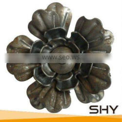 Decorative wrought iron stamping leaves and flowers