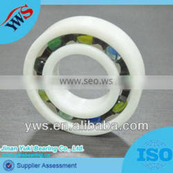 Non magnetic Radial 6000 Plastic ball bearing with glass ball