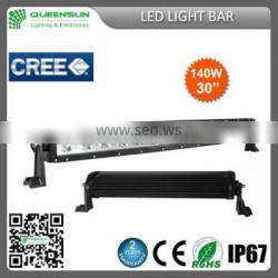 Newest design!!! 30inch 140w led light bar for offroad camper trailer SRLB140-C4
