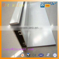 6061 T5 AA10 anodized/powder coated aluminum profile for Automobile frame profile