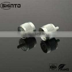 N Type RF Connector For LMR400 Alloy Plated RF Straight Connector