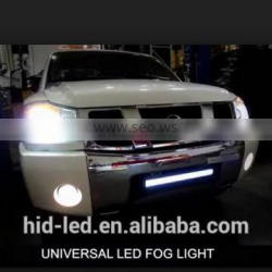 Car accessories shops 2 in 1 LED power saving fog light with DRL daytime running light for universal cars