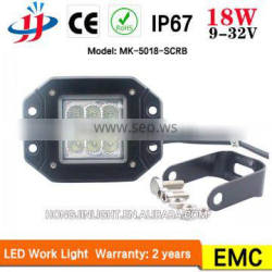 China wholesale square Factory price 5inch 18W Work Light LED for Motorcycle Boat