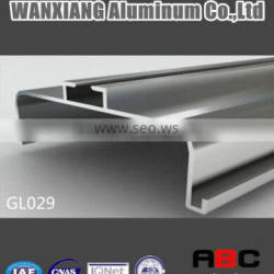 extruded aluminium handless sections for kitchen cabinets