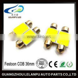 2015 hot selling car led light Festoon COB 36mm dome light