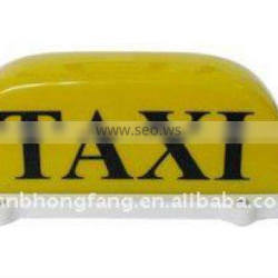High Quality ! Magnetic 3 Bulbs Inside Taxi Top Light Box&Cab Roof Lamp