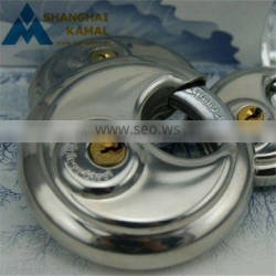 Silver Heavy Duty Stainless Steel Security Disc Padlock Home Garden Lock