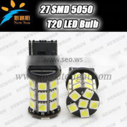 Car 5050 SMD T20 LED Wedge Rear Turn Signal/Tail Brake Lamp Bulb Light 12V canbus t20 7440 W21W led reverse light