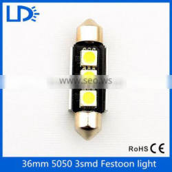 2016 led bulb light interior 5050 3 smd w5w LED Canbus Festoon 36mm led for car