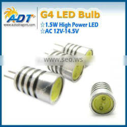 G4 1.5W High Power SMD LED Cabinet Marine Boat Light Bulb Warm Pure White