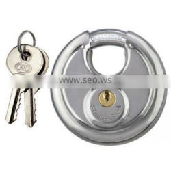 High Quality 60 70 80 90mm Yantai Tri-Circle Heavy Duty High Security Stainless Steel Disc Round shaped Padlock TL960-990