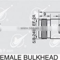 N to SMA adapter,female to female with bulkhead