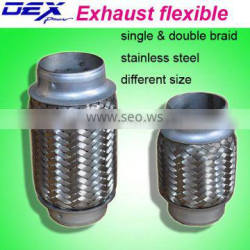 dual braid exhaust flexible pipe