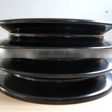 SPZ SPA SPB SPC round pulley belt groove round v-belt pulley stainless steel casting pulley belt