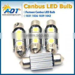 36mm CANBUS Error Free 3 LED 5050 SMD 6418 C5W License Plate Dome Light Bulb
