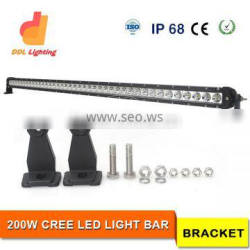 single row super bright 200w 12 volt led work light bar 4x4 accessory