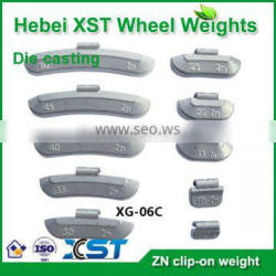 Casting Zinc clip-on wheel weight