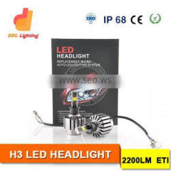2S car 30W Led Automotive Headlight 12V car led headlamp H3 led bulb