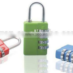 4 digital combination lock with master key/Combination Padlock With Master Key/Combination lock with handle