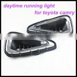 LED Daytime Running Light DRL For camry 2014-2015 headlight Car Fog Lamp for toyota camry DRL 2014 Up