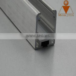 Wide frame extruded aluminum profile for kitchen cabinet track