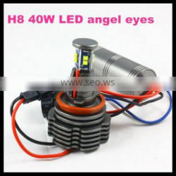 led headlight h8 40w led marker angel eyes 8 led 3528 1400lm 6000k white halo light for bmw e90 e91 e82 e87 f01 f02 e60 e61 x5