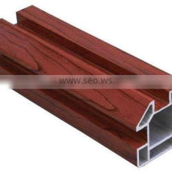 Best quality extruded aluminum wood finish profile for window and door frame