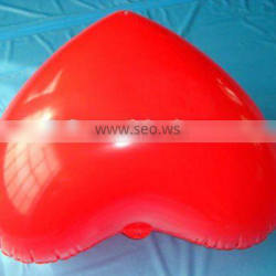 Inflatable red heart pillow