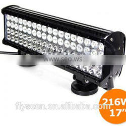 High power vehicle light bar 216w 12v off road led light bar 216w led light bar,headlamp, police lights