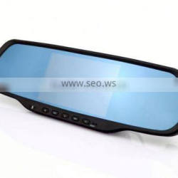 Chelong Factory 5.0inch Android 4.0.4 Dual Lens 120deg Wifi G-sensor GPS rearview mirror with gps bluetooh camera