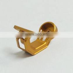 Gold anodized small parts precision cnc fabrication