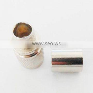 factory price rf series TNC male reverse polarity straight crimp type connector for coaxial cable rg 58 rg59
