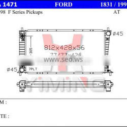 Auto radiator for Fordd F Series Pickup AT,56mm