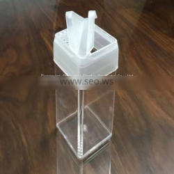 Sealed leakproof folding buckle transparent with double hole opening plastic bottle mold