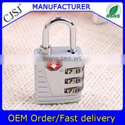 Hot sale TSA 3 Combination Travel Suitcase Luggage Padlock Lock TSA-523