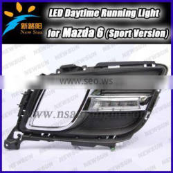 2014 new 100% waterproof car led DRL light 6 LED daytime running light for mazda 6 ( sport ) led drl Daytime Running Light lamp