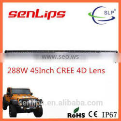 24000LM 4D lens 50inch 288W C-REE leds light bar factory price light bar for offroad truck