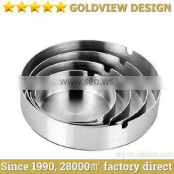 Hot sale wholesale round custom manual high quality metal stainless steel cigar ashtray with lid