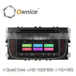 Android 4.4 1G ROM 16G RAM quad core Ownice C300 Car DVD For Ford Focus Galaxy Mondeo S-MAX with wifi GPS NAVI DAB