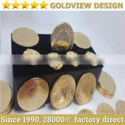 die casting real 24ct gold plated gold coins , customize gold souvenir Commemorative COINS