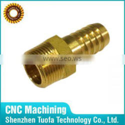 Small batch available OEM cnc machining china brass hose nipples