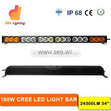 Factory direct 180W high power led light bar 33inch led light bar 4X4 spot curved