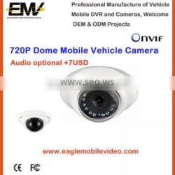 Dome 720P CMOS P2P Rear View IP Camera For Cars