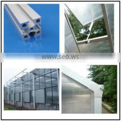 aluminum extrusion profiles used in greenhouse frame, mill finished